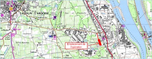 Protection du bourg contre le risque inondatation à LAUDUN L'ARDOISE (30)