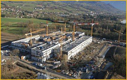 Construction de l'hôpital d'Annemasse-Bonneville CHAL à Contamine-sur-Arve (74)