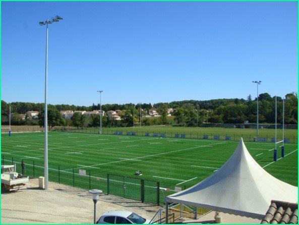 Transformation du terrain de rugby en synthétique à JACOU (34)