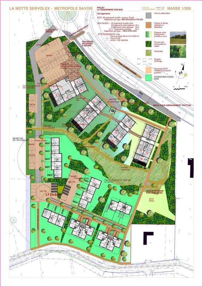 Etude AEU d'un nouveau quartier de logements à LA MOTE SERVOLEX (73)