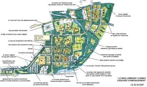 Assistance urbaine pour l'aménagement du quartier du Mas Lombard à NIMES (30)