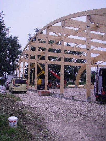 Construction de 2 courts de Tennis couverts à MONETEAU (89